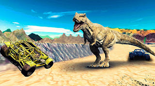 Download Dino World Car Racing V1.0 MOD Apk For Android