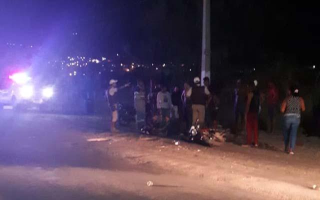 Jacobina: Motociclista colide com caminhão na Av. Nossa Senhora da Conceição