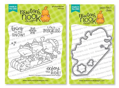 Newton's Toboggan Stamp Set and Die Set by Newton's Nook Designs
