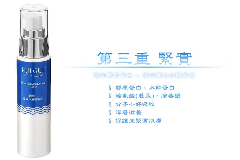 瑞桂高效保濕精華液,富含膠原蛋白、水解蛋白、胜肽、胺基酸,深層滋養,保護並緊實肌膚