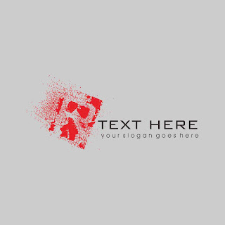 Letters R  Grunge Effect Logo Template Free Download Vector CDR, AI, EPS and PNG Formats