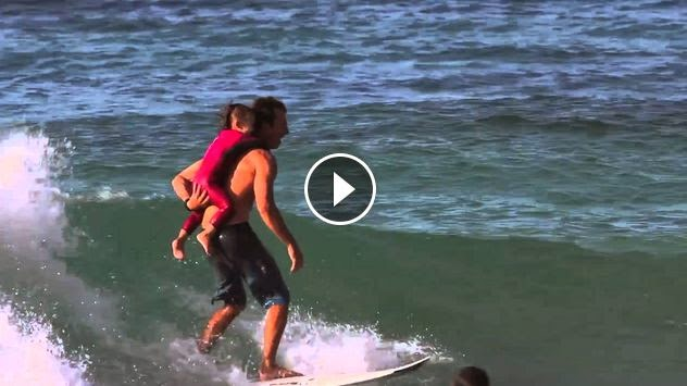 Cory Lopez and the World s Cutest Surf Session