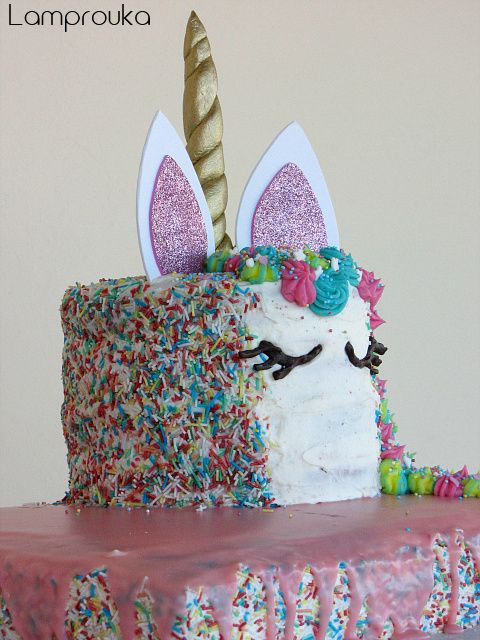 Φανταστική τούρτα μονόκερος για κορίτσια