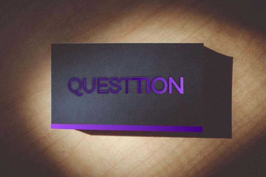 Questtion Mock Brand Card