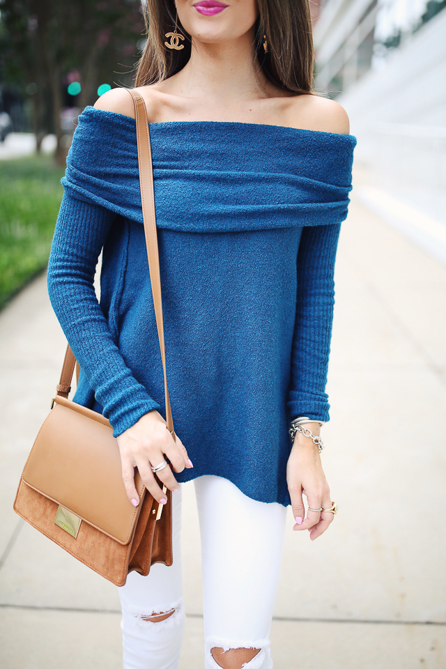 Southern Curls & Pearls: Fall Staple: The Off Shoulder Sweater