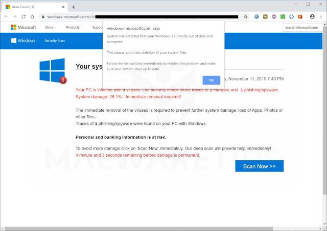 Windows-microsoftt.com pop-ups Scam