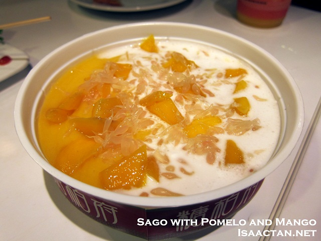 Sago with pomelo and mango