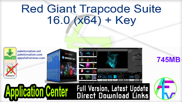 Red Giant Trapcode Suite 16.0 (x64) + Key