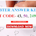 Download UBTER Answer Key 2017  - Post Code 43, 50, 249, 254