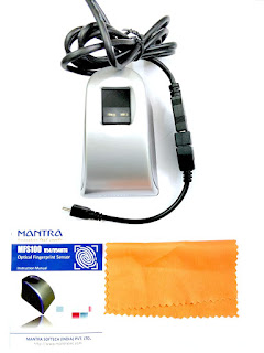 Mantra MFS100 v54 OTG with RD Service Finger Print Scanner (Black)