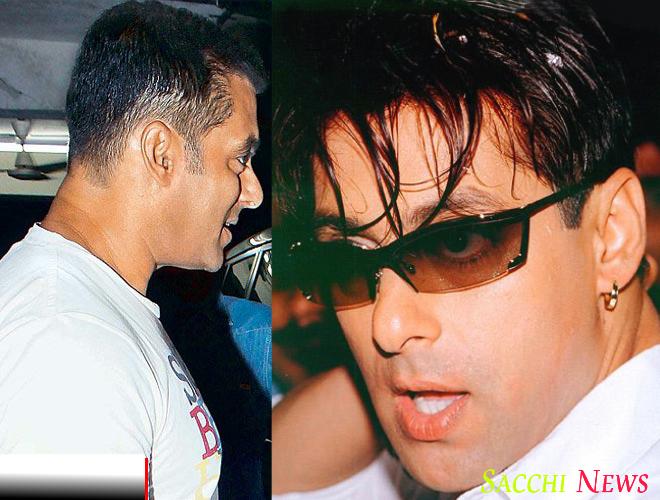 Bollywood actor Salman khan hairstyle