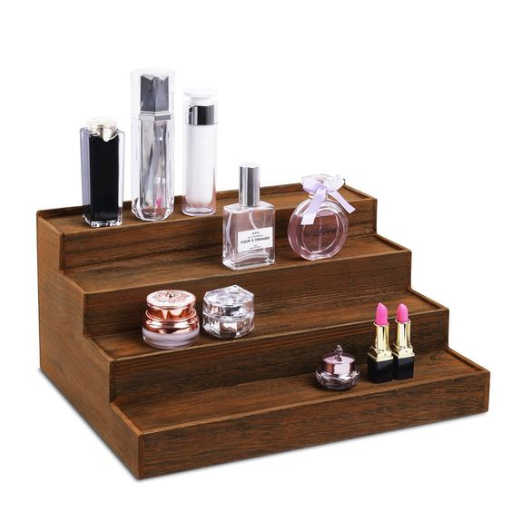 #WD404-BR 4-tiered Design Step Shelf