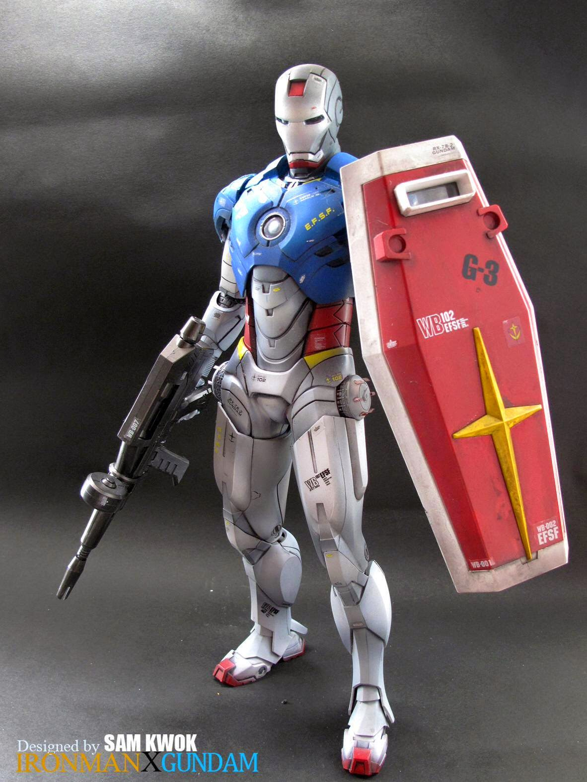 Felix Ip。蟻速畫行 Ironman Crossover Gundam Figures