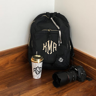 monogrammed backpack from marleylilly.com