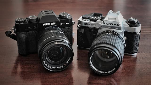 Fujifilm X-T20 and Pentax Super Program