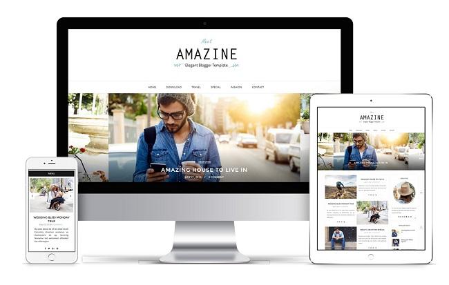 Amazine Blogger Responsive Design Image