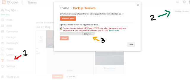 Blogger custom theme upload