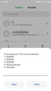 Pulsa Indosat via Dial Up