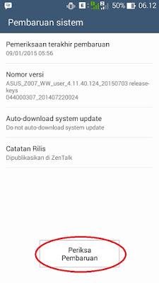 Cara Mudah Update Zenfone C Ke Lolllipop Tanpa PC