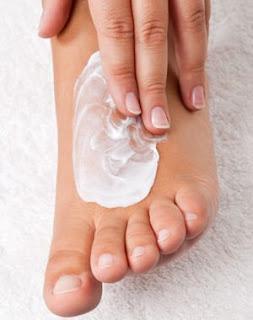 pieds hydratés