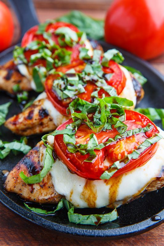 Caprese Balsamic Grilled Chicken #recipes #dinnerrecipes #quickdinnerrecipes #food #foodporn #healthy #yummy #instafood #foodie #delicious #dinner #breakfast #dessert #lunch #vegan #cake #eatclean #homemade #diet #healthyfood #cleaneating #foodstagram