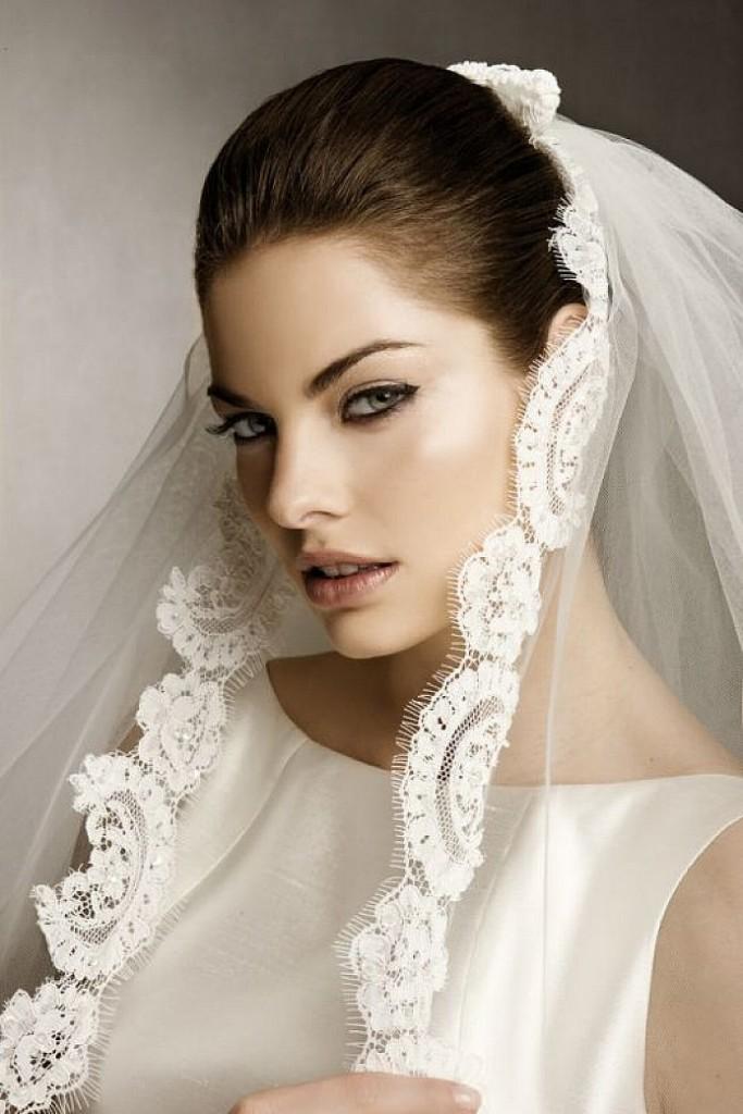 el invierno 2016 enamora a todas las novias con las mejores posibilidades de peinados con veloenamorate t tambin - Peinados De Novia Con Velo