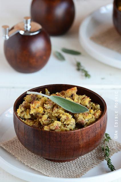 Turkey-Sage Cornbread Stuffing by An Edible Mosaic