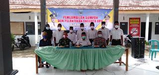 Koramil 0820/04 Bantaran Hadiri Pelantikan BPD Kecamatan Bantaran