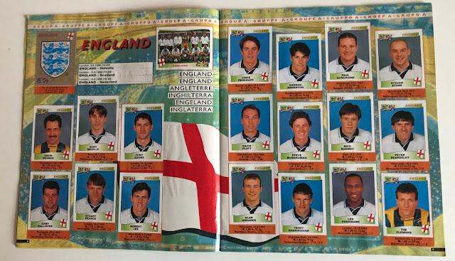 Figurine Inghilterra Euro 96