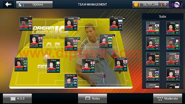Save Data (profile.dat) Dream League Soccer Pemain Legends Manchester United