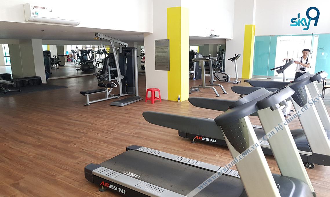 Phòng tập Gym tại dự án căn hộ sky9