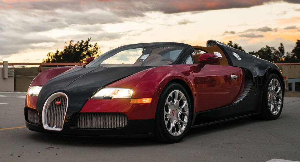 bugatti veyrons like this rare grand sport are still selling for millions. Black Bedroom Furniture Sets. Home Design Ideas