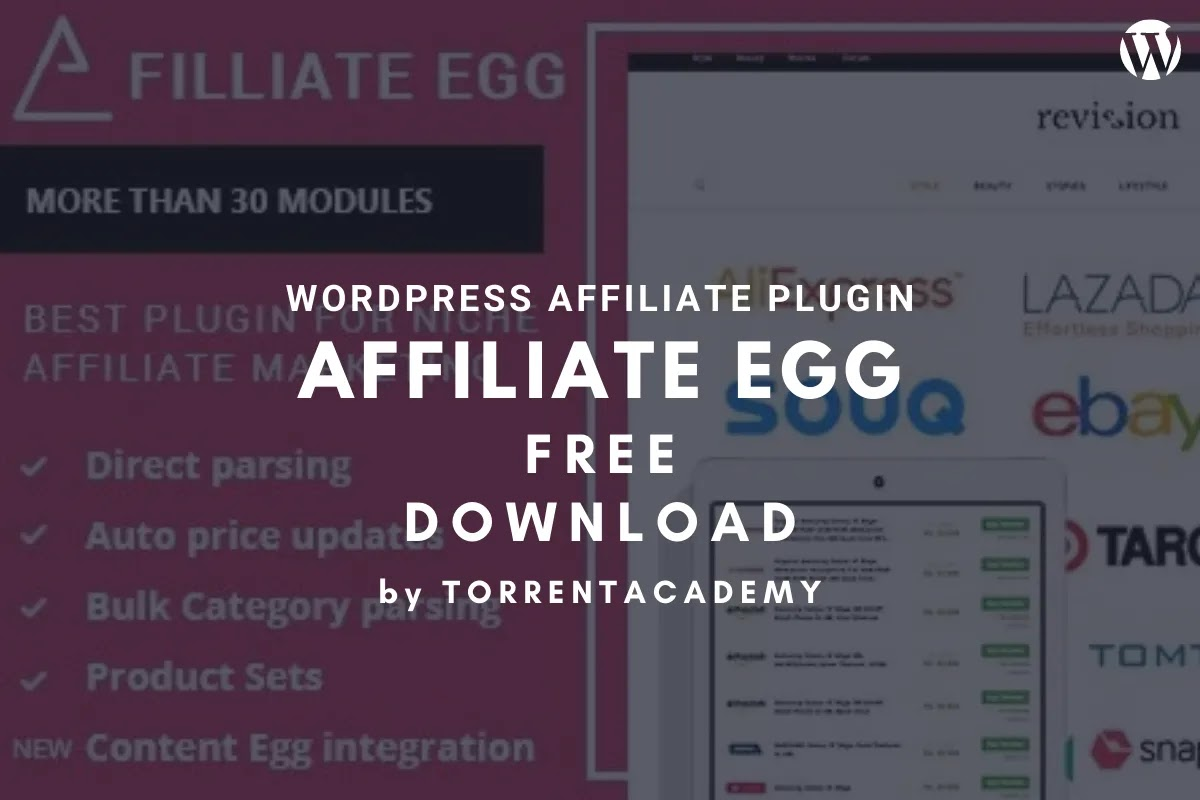 Affiliate egg WordPress plugin Free Download