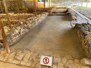 Varignano Roman Villa - mosaic floor example