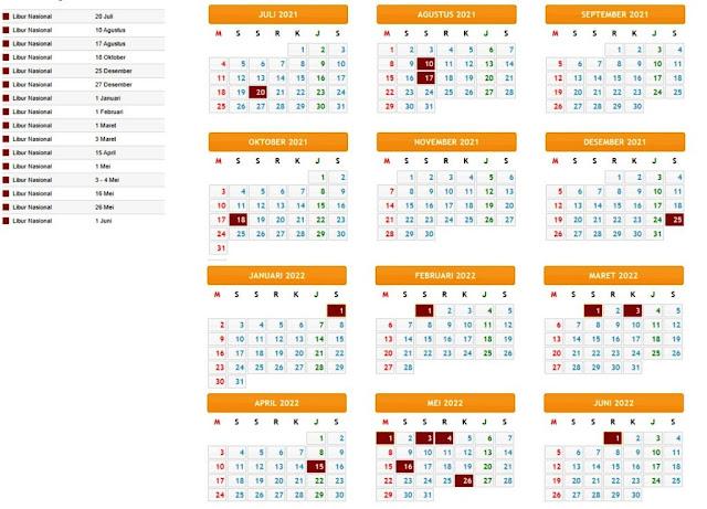 Terbaru Kalender Pendidikan Tahun Pelajaran 2021/2022 Provinsi Jawa Tengah
