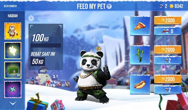 Event Feed My Panda Free Fire Kasih Makan Dapat Skin Pet Permanen