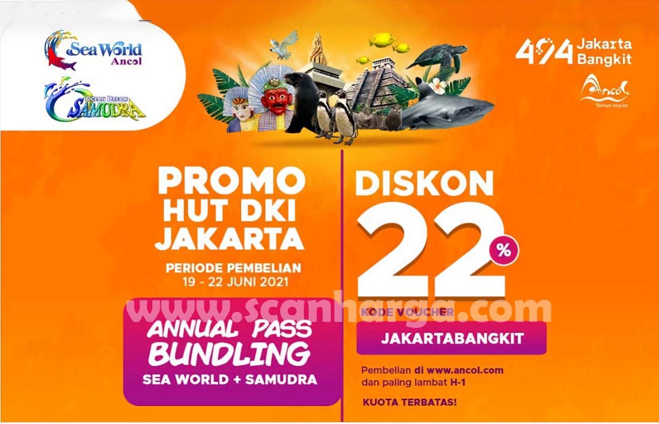 Promo SeaWorld & Samudra Diskon 22% Spesial HUT Jakarta