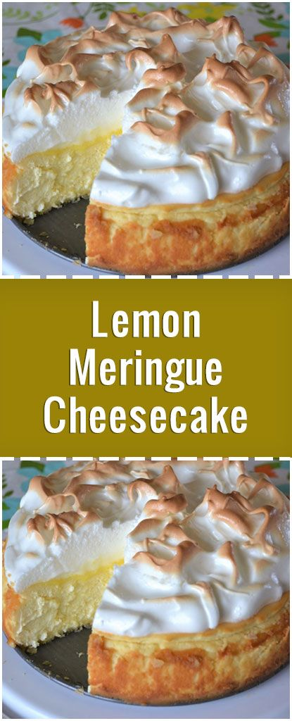 « Love lemon meringue pie and cheesecake? Well this is the best of both worlds. Great any time of year and sure to impress your guests. »
