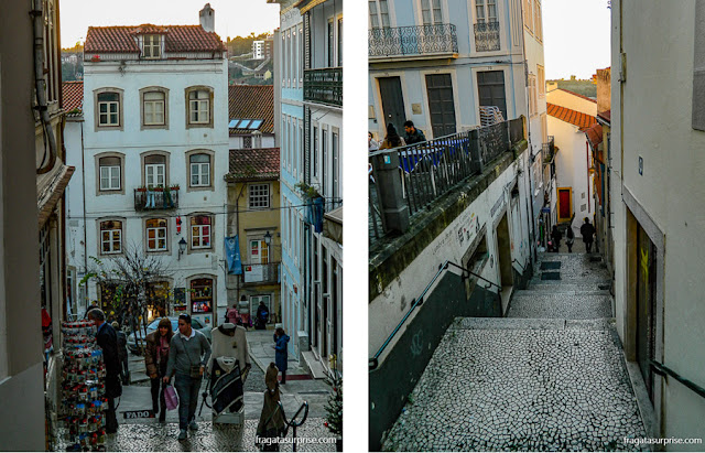 ladeiras e escadarias do centro Histórico de Coimbra
