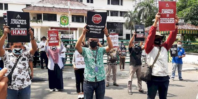 Kembali Unjuk Rasa Di Kantor Bobby Nasution, FJM: Medan Sedang Darurat Kebebasan Pers