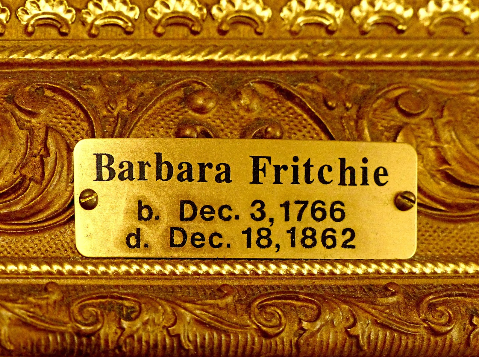 barbara fritchie poem