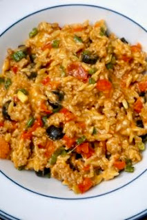 One Skillet Cheesy Taco Orzo: Savory Sweet and Satisfying