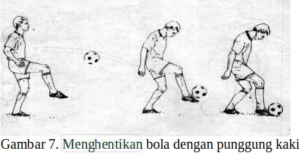 Teknik menghentikan bola dengan punggung kaki