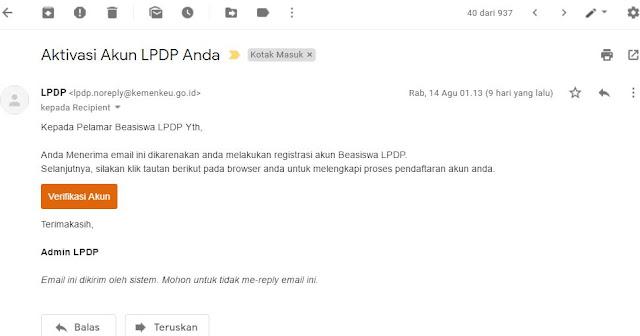 Cara Verifikasi akun LPDP