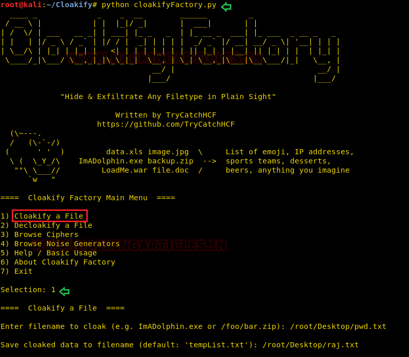 Cloakify-Factory: A Data Exfiltration Tool Uses Text-Based Steganography
