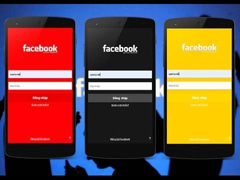 تحميل تطبيق للفيس بوك باللون الأحمر والأسود