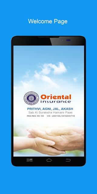 Oriental insurance on mobile
