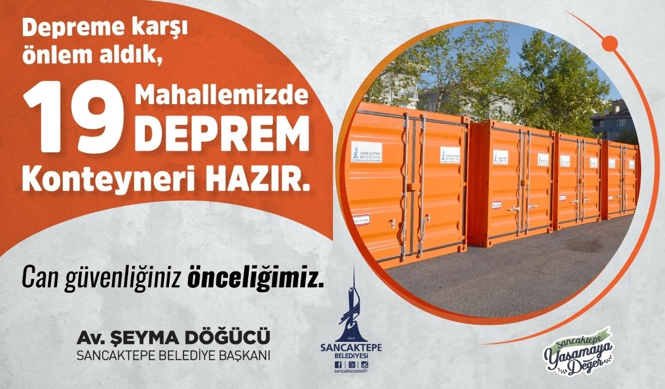 Sancaktepe'de her mahalleye deprem konteyneri yerleştirilecek