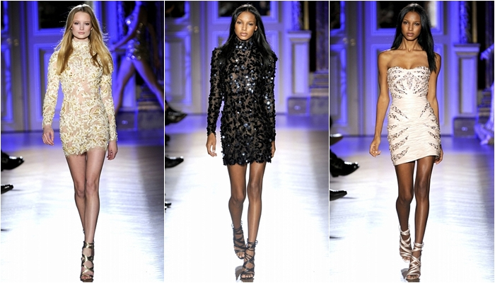 Haute Couture spring 2012 Zuhair Murad short sequined dresses