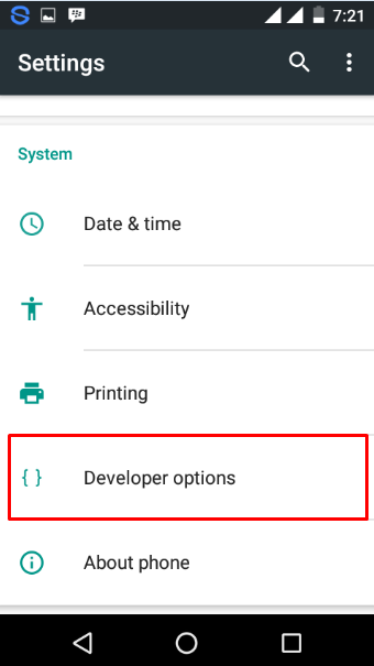 Developer Options Android 6.0 Marshmallow